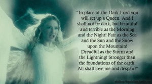 Galadriel to Frodo and Sam, The Fellowship of the Ring, Book II, The ...