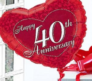 Happy 40th Anniversary Wishes