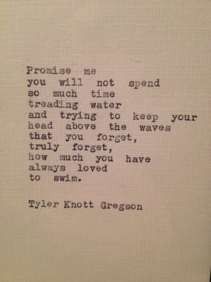 Tyler Knott Gregson Quote Framed Made On Typewriter