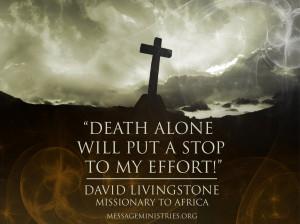 Death Alone - David Livingstone