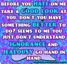 envy quotes and sayings | Ignorance And Jealousy Graphics Code ...