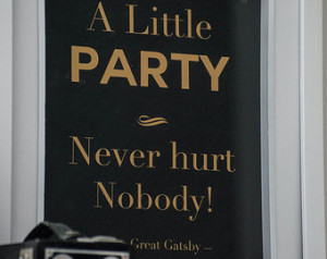 Gatsby quote , gatsby party, gold print, gatsby print, wall art, great ...