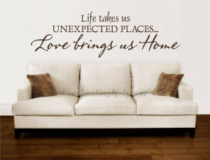 ... Takes-Us-Unexpected-Places-Vinyl-Decal-Sticker-Wall-Letter-Words-Quote