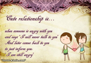 Cute relationship is
