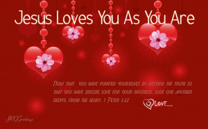 Christian Valentine's Day Greetings and Wallpaper