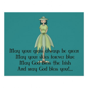 Irish Fairy Girl - Irish Quote Poster