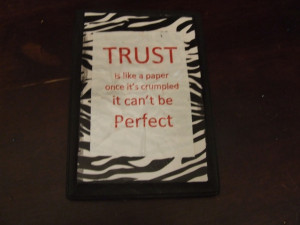 Trust..... Wood Board for decoration