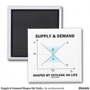 Supply Demand Shapes My Outlook On Life (Econ) Fridge Magnets #econ # ...