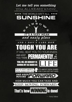 Motivational poster rocky balboa speech Art Print