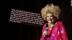 Phyllis Diller, who died this week, made an artform out of ...