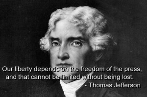 Thomas jefferson, quotes, sayings, press, freedom, wisdom