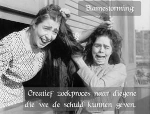 Blamestorming: creatief zoekproces naar diegenen die we de schuld ...