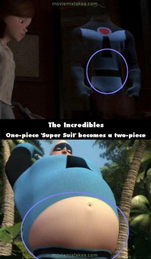 Pixar A mistake in the incredibles