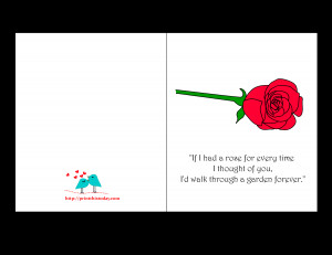 Love Quote Card for Valentine's day