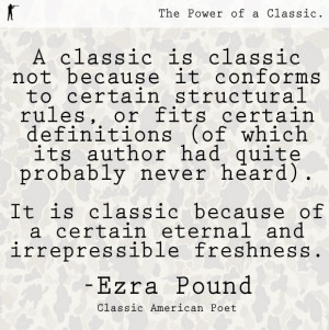 Ezra Pound. Born in 1885. A classic American poet, critic and ...