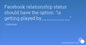 ... status should have the option: