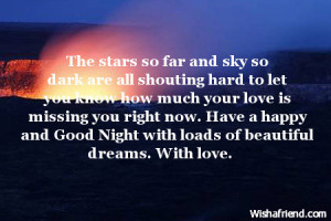 Good Night Quotes For My Bf ~ Good Night Messages For Boyfriend