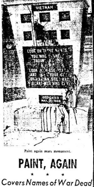 Rosedale Vietnam Veteran Memorial April 1970