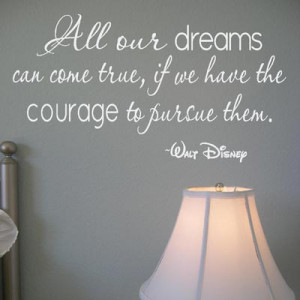2116 ALL OUR DREAMS Disney Wall Quote