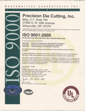 ISO Certification Able Electropolishing Request A Quote