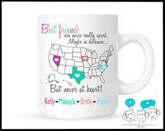 ... Friends Saying Goodbye Mug Moving Away Unique Coffee Mug Friendship