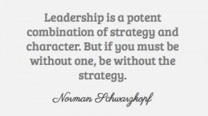 Norman Schwarzkopf on leadership