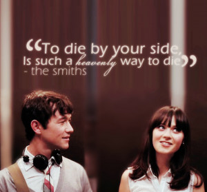 ... joseph gordon-levitt, lyrics, the smiths, typography, zooey deschanel