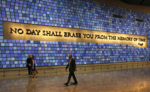 quote from Virgil fills a wall of the museum prior to the dedication ...