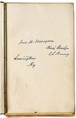 Thomas S. Morgan, probably a Kentucky cousin of John Hunt Morgan ...