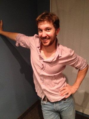 Sam Huntington At his costume fitting for Being Human