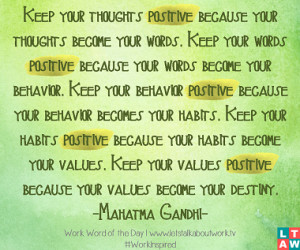 ... are the words live thoughts positive behavior habits quote Pictures