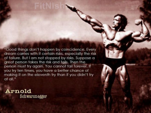 arnold schwarzenegger motivation quote