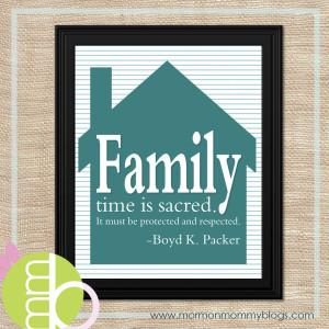 Family Time is Sacred Printable