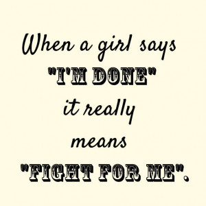 When a girl says
