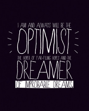 DISCOUNT - Optimist and Dreamer (Doctor Who quote - 11th Doctor) 8x10 ...