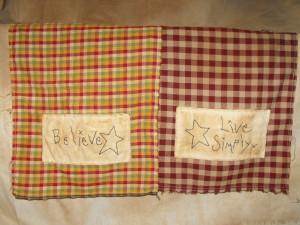 Homespun Stitchery Tea Towels - 8.00 each (variety of sayings)