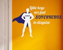 ... Superhero - Vinyl Decal (Interior & Exterior Available) Boys Superhero