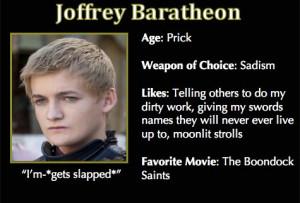 Game of Thrones Trading Cards - Joffrey Baratheon
