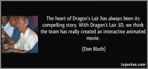 Dragon's Lair has always been its compelling story. With Dragon's Lair ...