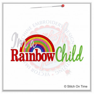 5151 Sayings : I'm A Rainbow Child 5x7 £1.90p