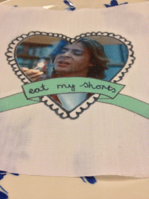 John Bender The Breakfast Club Quote Frilly Heart Patch