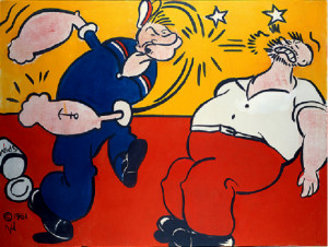 popeye by roy lichtenstein painting owned by steven a cohen