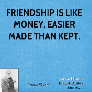 Samuel Butler Money Quotes