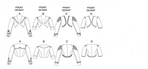 Free Bolero Jacket Sewing Pattern | Sizes: 6, 8, 10 & 12