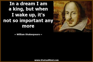 Am Awesome Quotes In a dream i am a king,