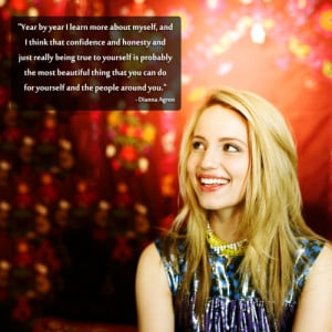 Favourite Dianna Agron Quotes || Source