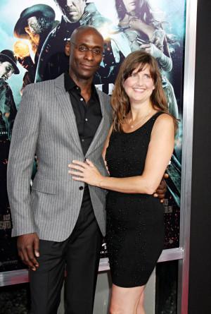 Lance Reddick and Wife Stephanie
