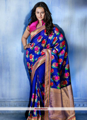 Sonakshi Sinha Saree in Blue