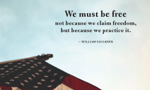 William Faulkner's words as they appeared on the Northrop Grumman ...