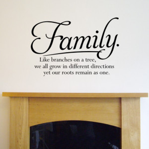 Wall quote sticker - Family. Like branches on a tree... H556K